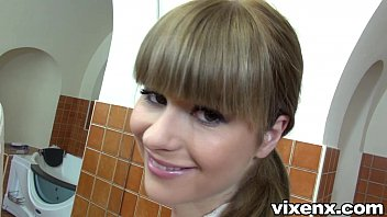 Charlyse Bella takes care of morning wood POV