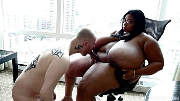 Sexy BBW Cotton Candi Makes Cuck Slave Suck Strap On Cock