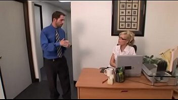 Horny blonde secretary