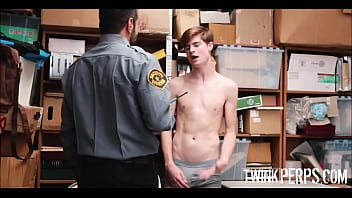 Young Straight Twink Caught Shoplifting Fucked By Gay Bear Officer For No Charges