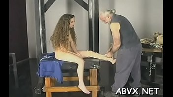 Floosy is masturbating on her male's