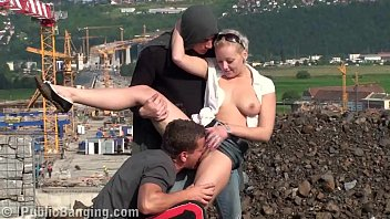 Adult male friends A very cute blond teen girl public fucking with 2 boys in public with oral deep throat blowjob and vaginal sexual threesome intercourse with vaginal pussy fuck while random strangers see them during this exciting adult adventure recorded on a video