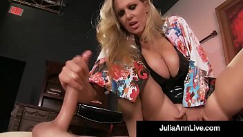 Pussy julia - Boy toy gets smothered by glamorous milf julia anns pussy
