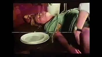 Vintage clip of mature lady with young boy.MP4
