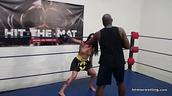 Interracial Mixed Boxing Male vs Female