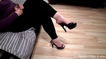 Carolina foot fetish shoe dangling video