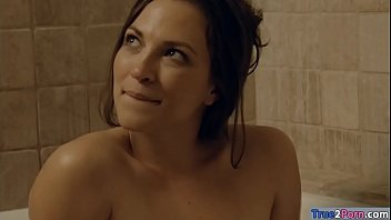 Hot woman likes getting her wet pussy railed in the bathroom