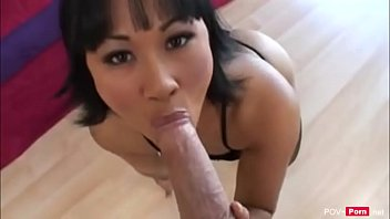 Asian Hottie Drag Lily gets a rough fuck -