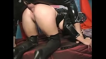 Captain latex violates a tight ass hole