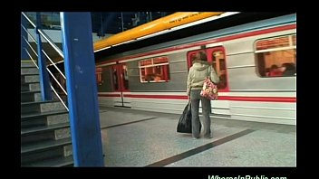 Young public porn movies - Young couple fucking at the bus station