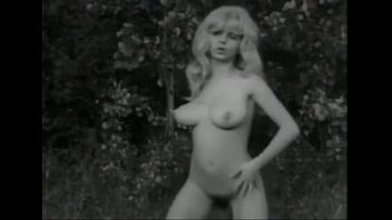 White strips classic Vintage bw swedish blond with big boobs and hairy pussy dancing