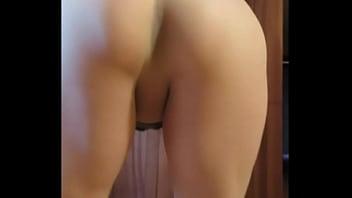 Cute shy redhead in white pantyhose rubs her milf pussy