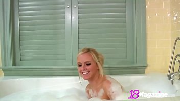 Big Boobed Teen Brittany Rubs A Dub Dub In The Tub!