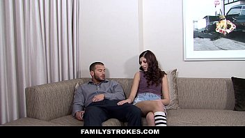 FamilyStrokes -   Bratty Teen Seduces New Step-Dad