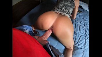 Lara De Santis assfucked POV, shows gape and taste the cumshot in a bedroom OTS429