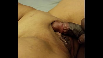 Whtie boy rubbing black girl but with cock Horny couple teasing