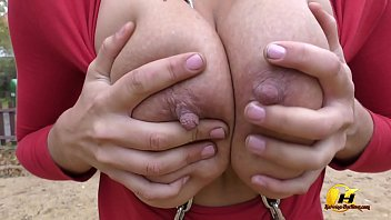 Katerina Hartlova naked in Public place and get fun on swing