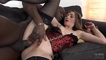 Moaning babe first time fucking black man has orgasm takes deep fucking and cum
