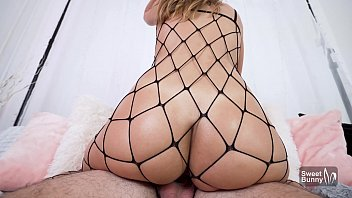 Horny GF In Black Fishnets Begs To Be Creampied