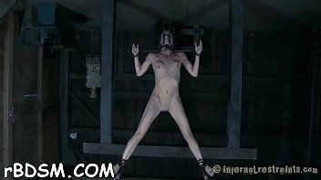 Slave receives lusty ass whipping previous to pussy torturing