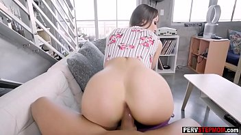 Crazy stepmom rode stepsons big dick while he recorded