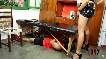 Rebeka Marques pisses on submissive guy and dominates his mouth in Golden Nectar 7 by LonY Fetiches