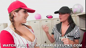 Sports girls Charley Chase and Natasha Nice fuck in the locker room. video