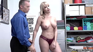 Desperate MILF Dana Dearmond got caught on CCTV shoplifting some items at the mall. The officer offers her to fuck her MILF pussy to get her freedom.