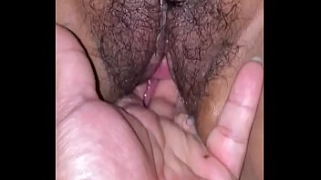 Latina gf creamy pussy soaking wet while being fingered
