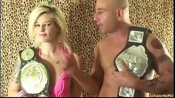 UIWP Entertainment Petite Blonde vs Man in Belly Punching Match