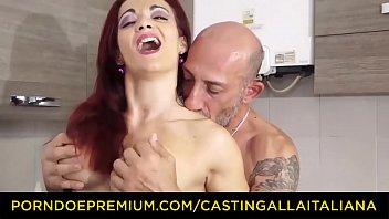 CASTING ALLA ITALIANA - Omar Galanti fucks in amateur sex tape with redhead Italian MILF Mary Rider