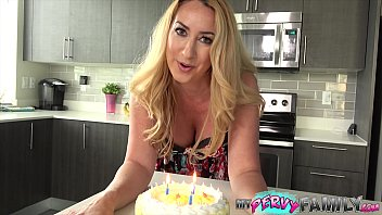 Free cum on my pussy Janna hicks surprises step-son with cake and a creampie