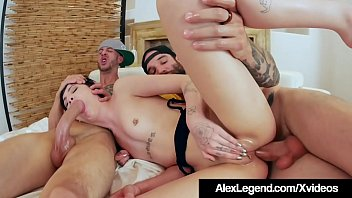 Double dick video Charlotte sartre gets 2 huge cocks in her ass by alex legend