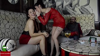 Sucking cock in the VIP area of a pub