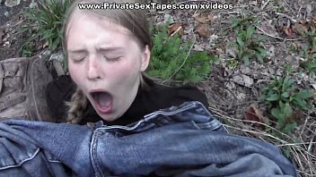 Passionate couple porn scenes in the desolate woods Thumb