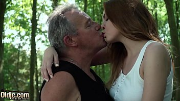 My grandpa has a hudge dick Sexy young redhead seducing grandpa and has incredible sex with him