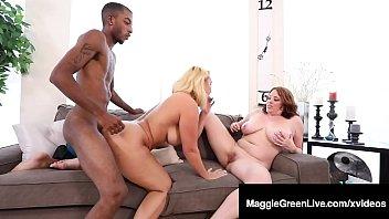 Mega Melons Maggie Green & Thick Nympho Nina Kayy Fuck BBC!