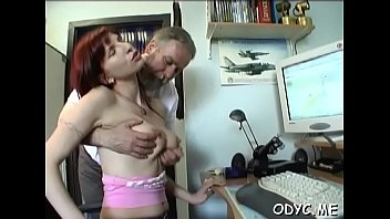 Perverted old chap gets lucky with a tight young pussy