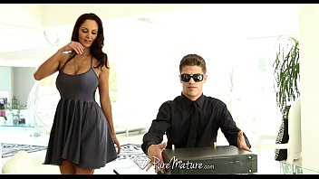 PureMature - Hot milf Ava Addams does business with a huge cock