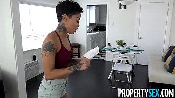 PropertySex - Hot tenant cheats on her DJ boyfriend with landlord