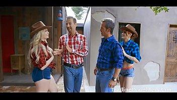 Cowgirl DAD DAUGHTER Gangbang- Britney Light & Rosalyn Sphinx