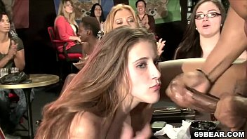 College girls suck male strippers Cfnm party with cock sucking