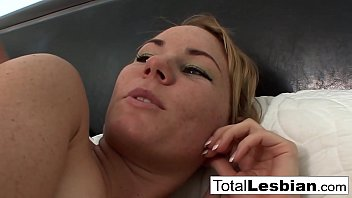 Blonde cutie has some fun with her busty stepmother