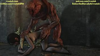 Resident Evil Short scene with Licker Monster