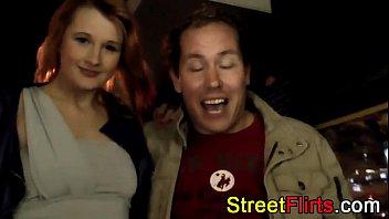German redhead amateur has outdoor sex
