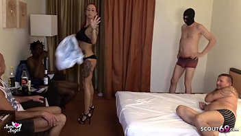 No Condom Creampie Gangbang for German Redhead Teen Hooker