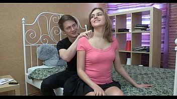 Sweet-looking teen gal takes hard cock