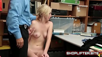 Crying Blonde Shoplifter Oral Sex