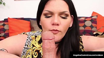 Free Ride? BBW Angelina Castro Blows Lucky Cock For A Lift!