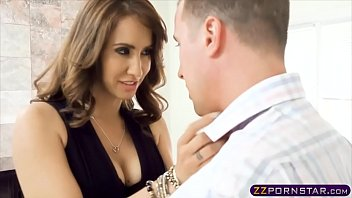 Busty female boss in sexy lingerie fucks in the office